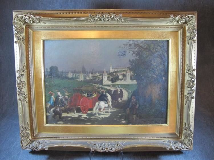 19th C.  Landscape Oil Painting By Edward C. Luck