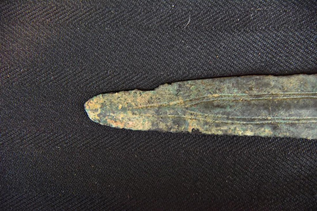 Ancient Canaanite Bronze Spear Point Circa 2000 BC - 7