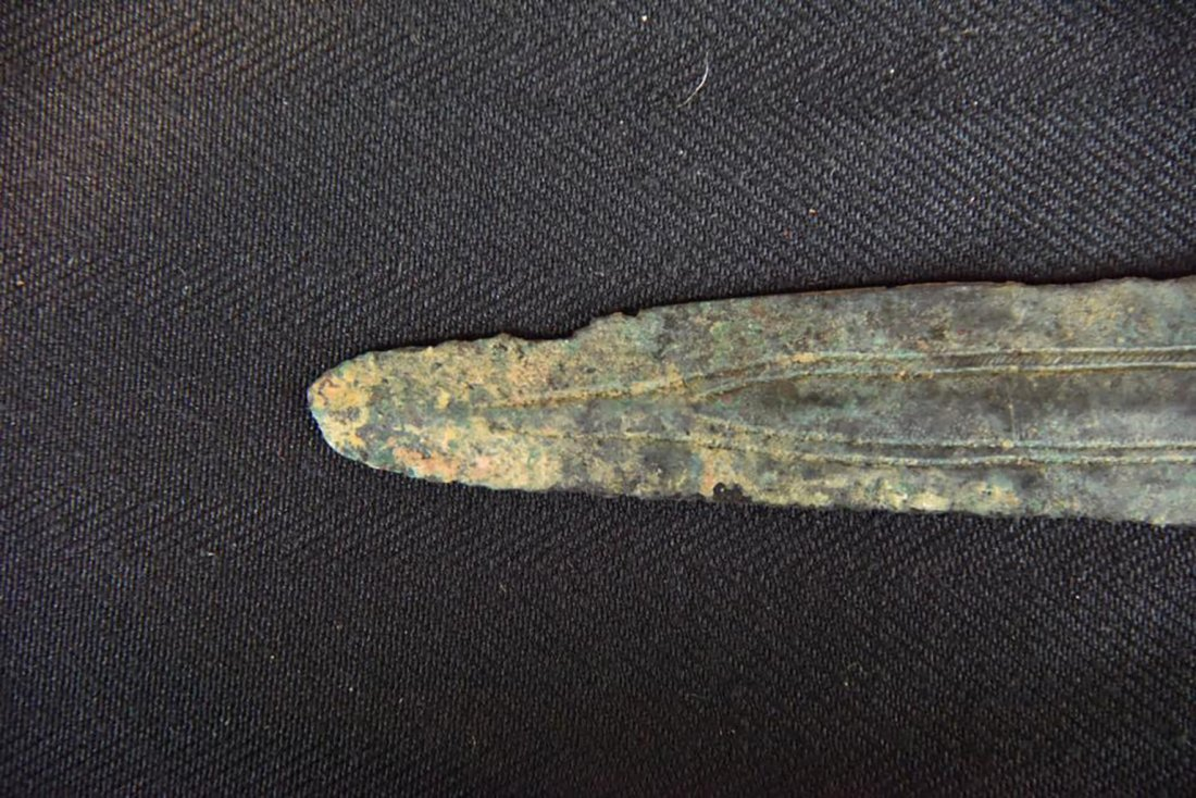Ancient Canaanite Bronze Spear Point Circa 2000 BC - 8