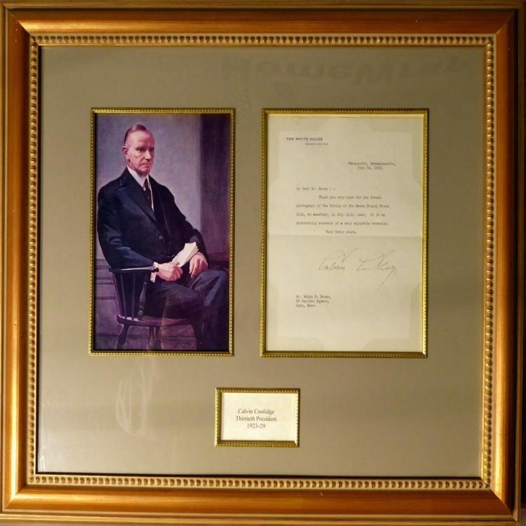 President Calvin Coolidge Hand Signed Letterv
