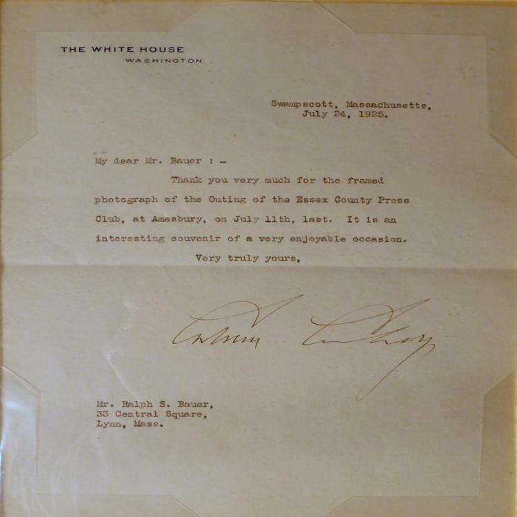 President Calvin Coolidge Hand Signed Letterv - 2