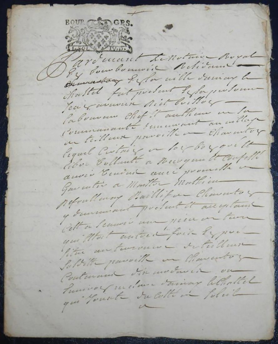 Antique Hand Written Legal Document Dated 1720 - 3