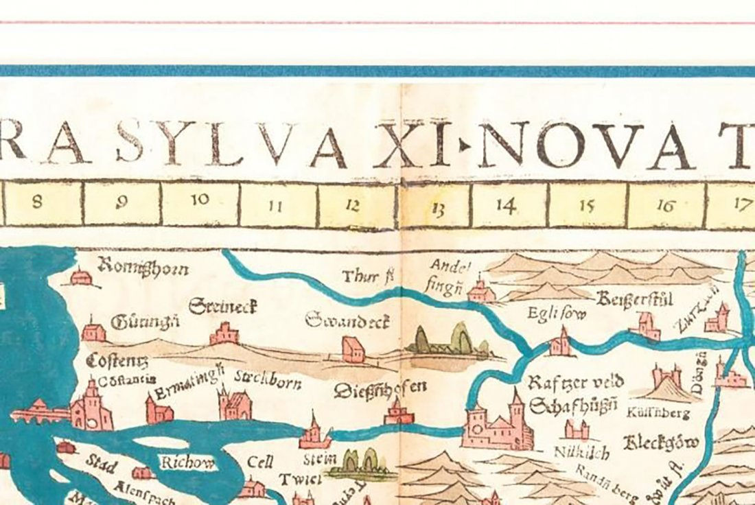 Pairing Of Sebastian Munster Nova Tabula Maps - 3