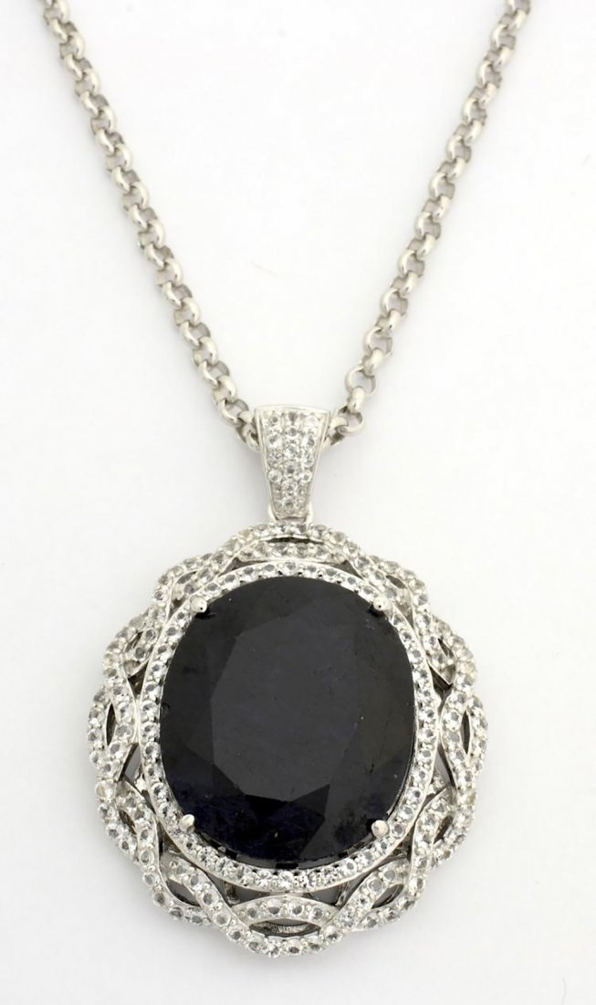 Gorgeous Blue Sapphire & Topaz Necklace