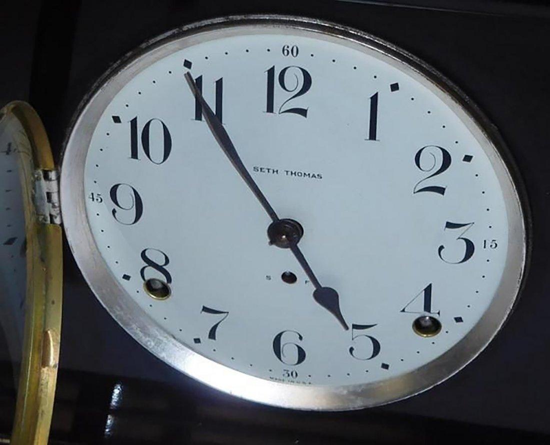 Antique Seth Thomas Mahogany Mantle Clock - 2