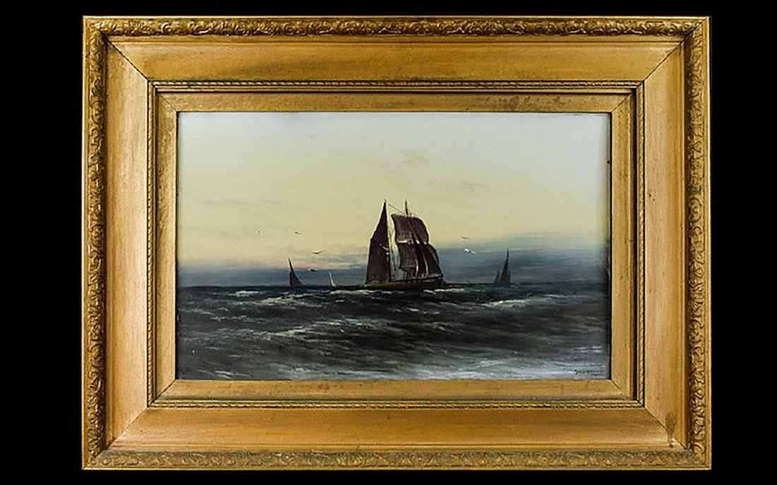 Maritime Oil Painting of Galleon at Sea by Guenning