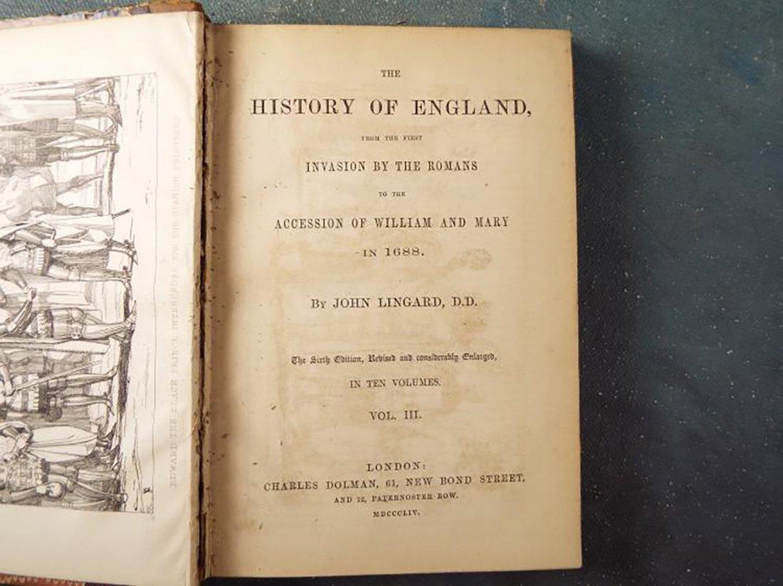 "1854 Edition ""The History Of England"" By John Lingrad - 2"