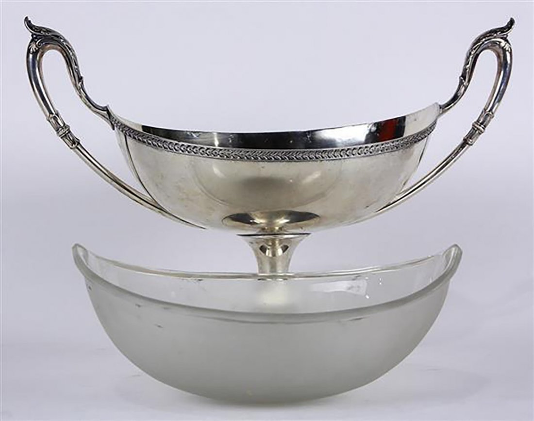 Large German .800 Silver Serving Compote - 2