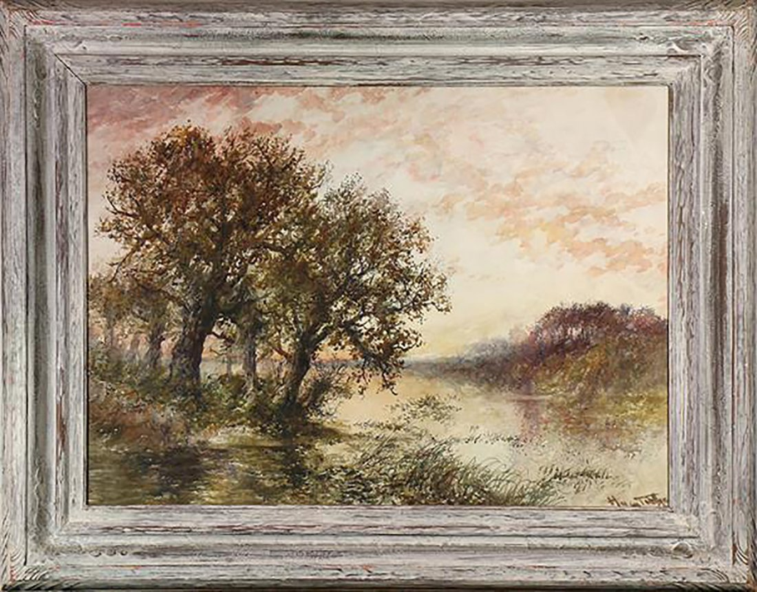 Continental School Landscape Watercolor Painting