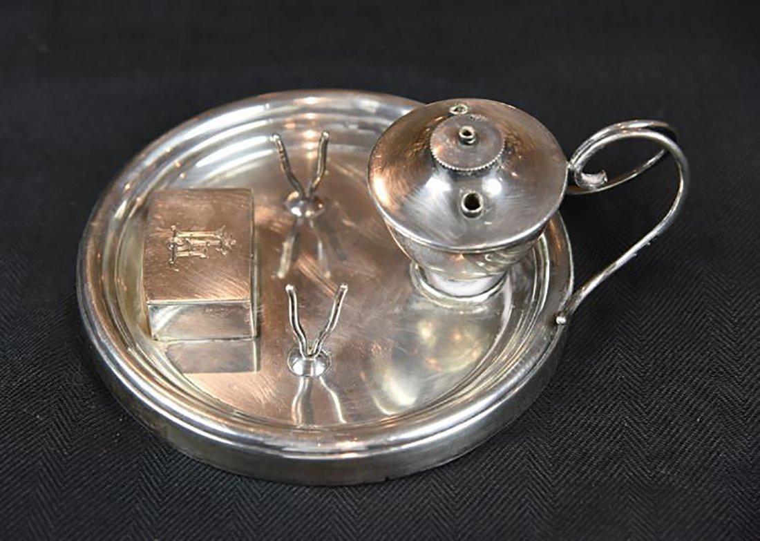 Antique Edwardian Sterling Silver Standish / Inkstand