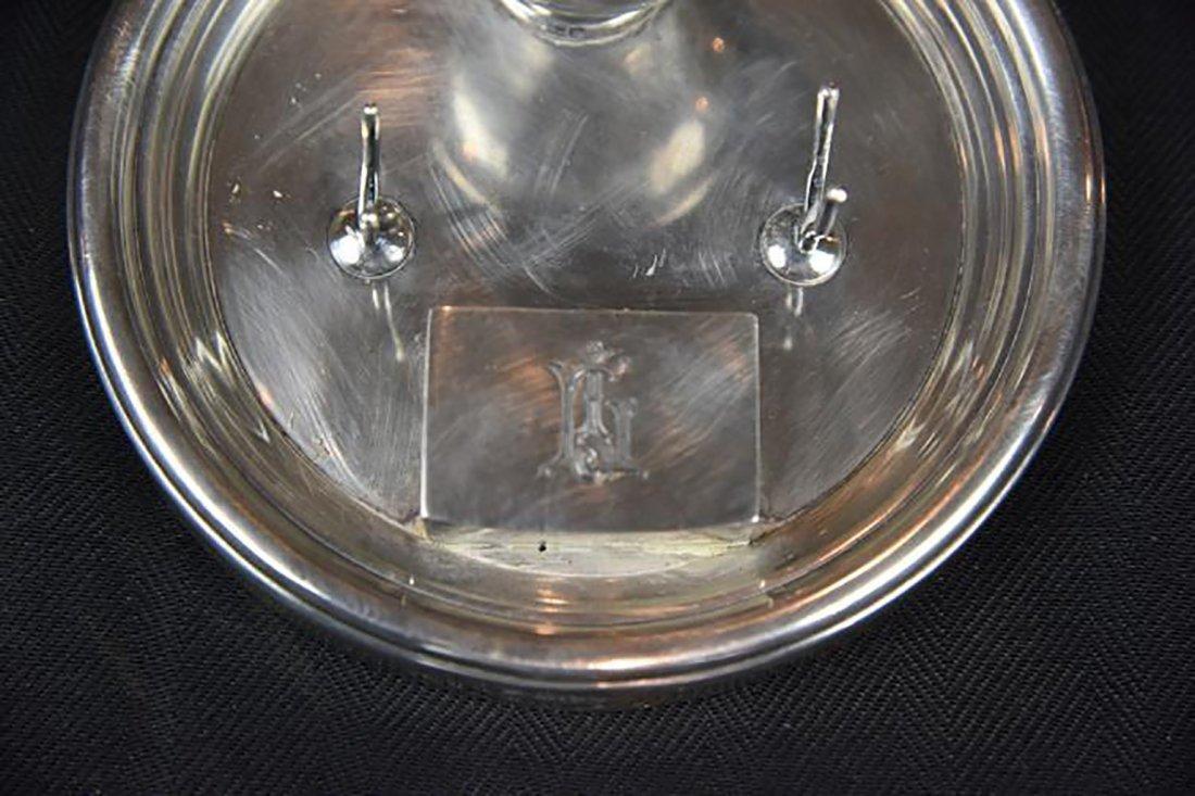 Antique Edwardian Sterling Silver Standish / Inkstand - 3