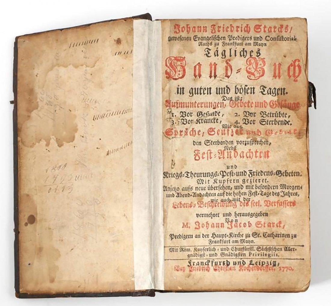 German Theological Book By Johann Friedrich Stark - 3