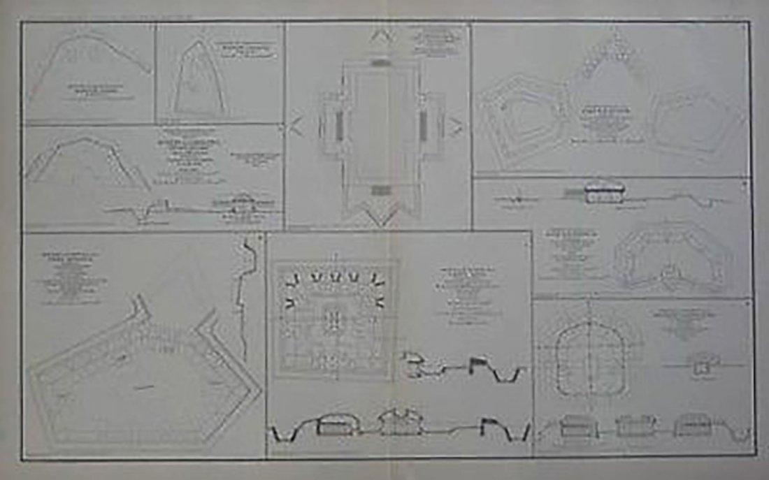 Antique Civil War Map - Nashville Defenses Fort Morton