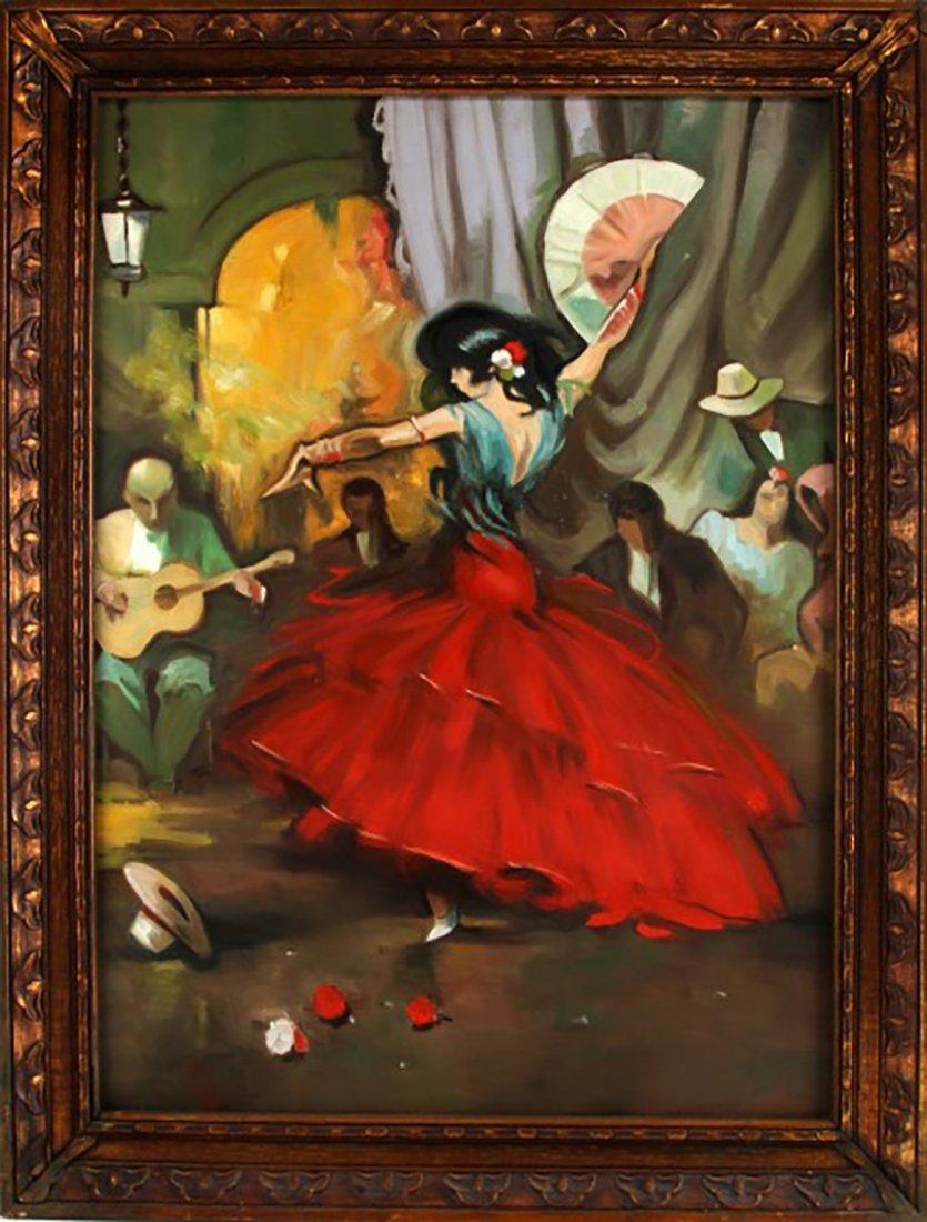 "Oil Painting by Juan Lerin Entitled ""Spanish Dancer"""
