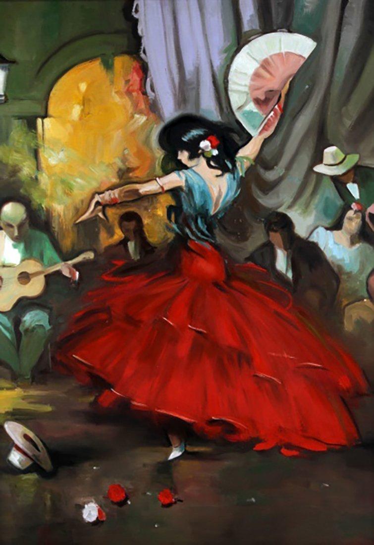 "Oil Painting by Juan Lerin Entitled ""Spanish Dancer"" - 2"