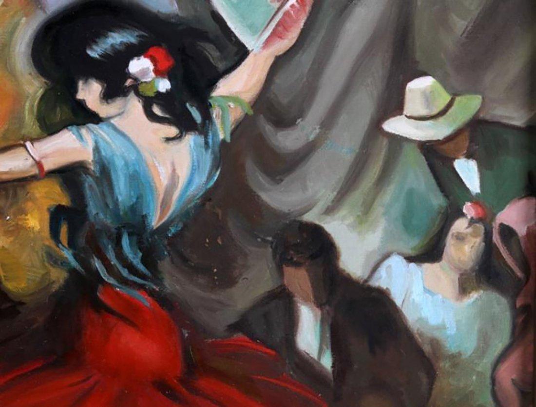 "Oil Painting by Juan Lerin Entitled ""Spanish Dancer"" - 3"