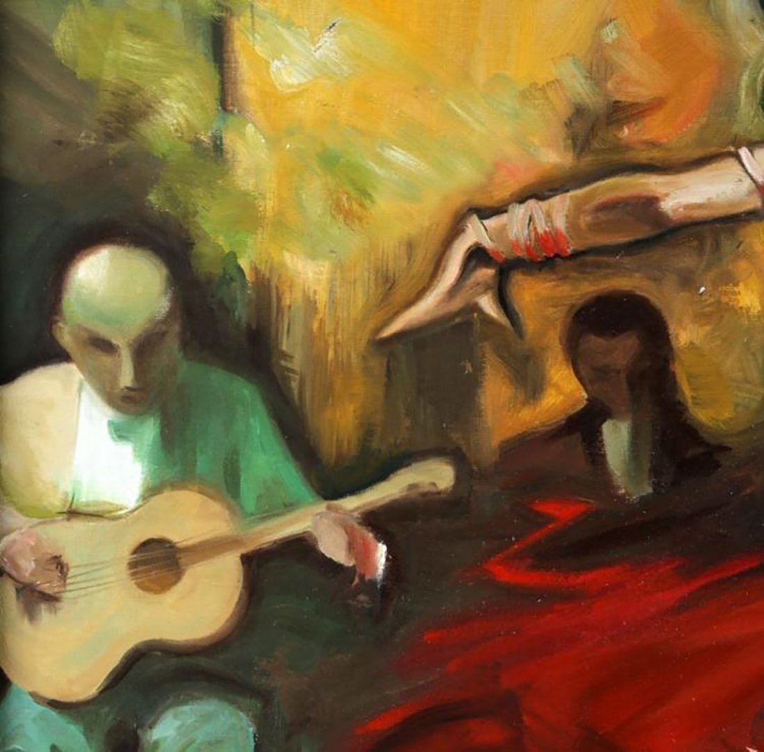 "Oil Painting by Juan Lerin Entitled ""Spanish Dancer"" - 4"