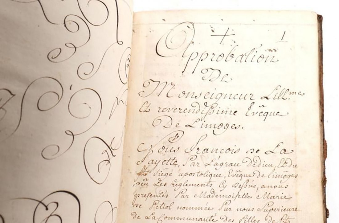 1650 Rare Original Handwritten Book By Marie De Petiot - 6