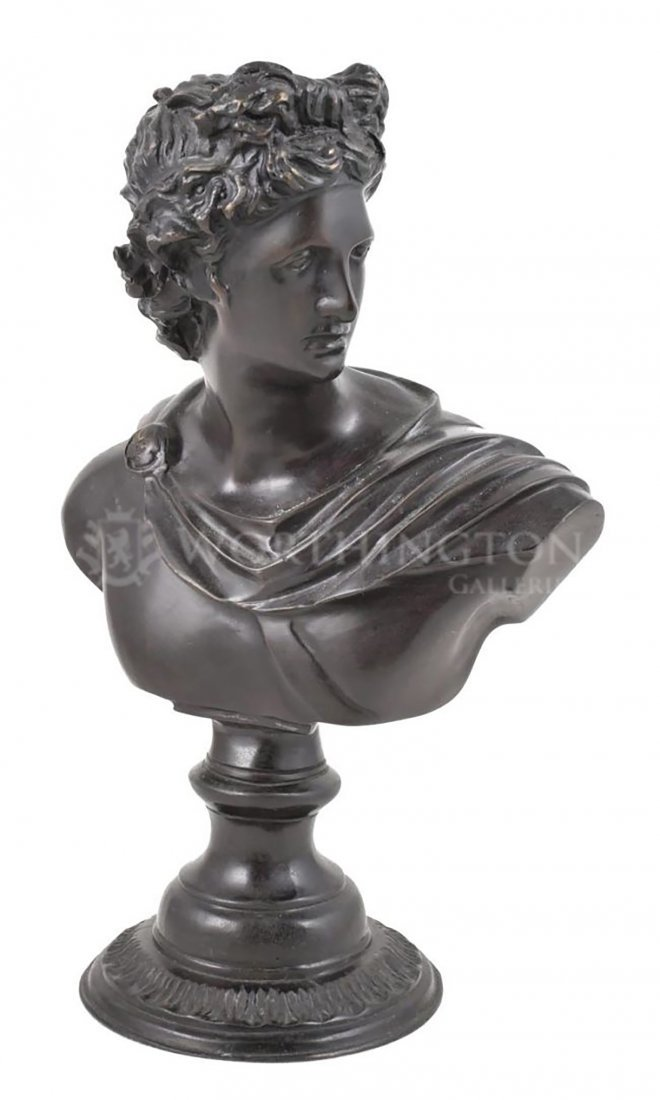 Bronze Male Bust Sculpture By Maitland Smith