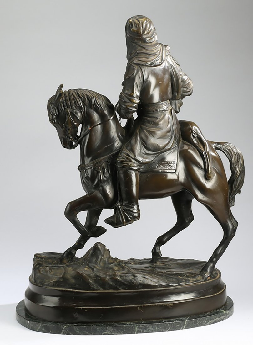 """Jockey On Horse ""  Sculpture By Charles Valton - 2"