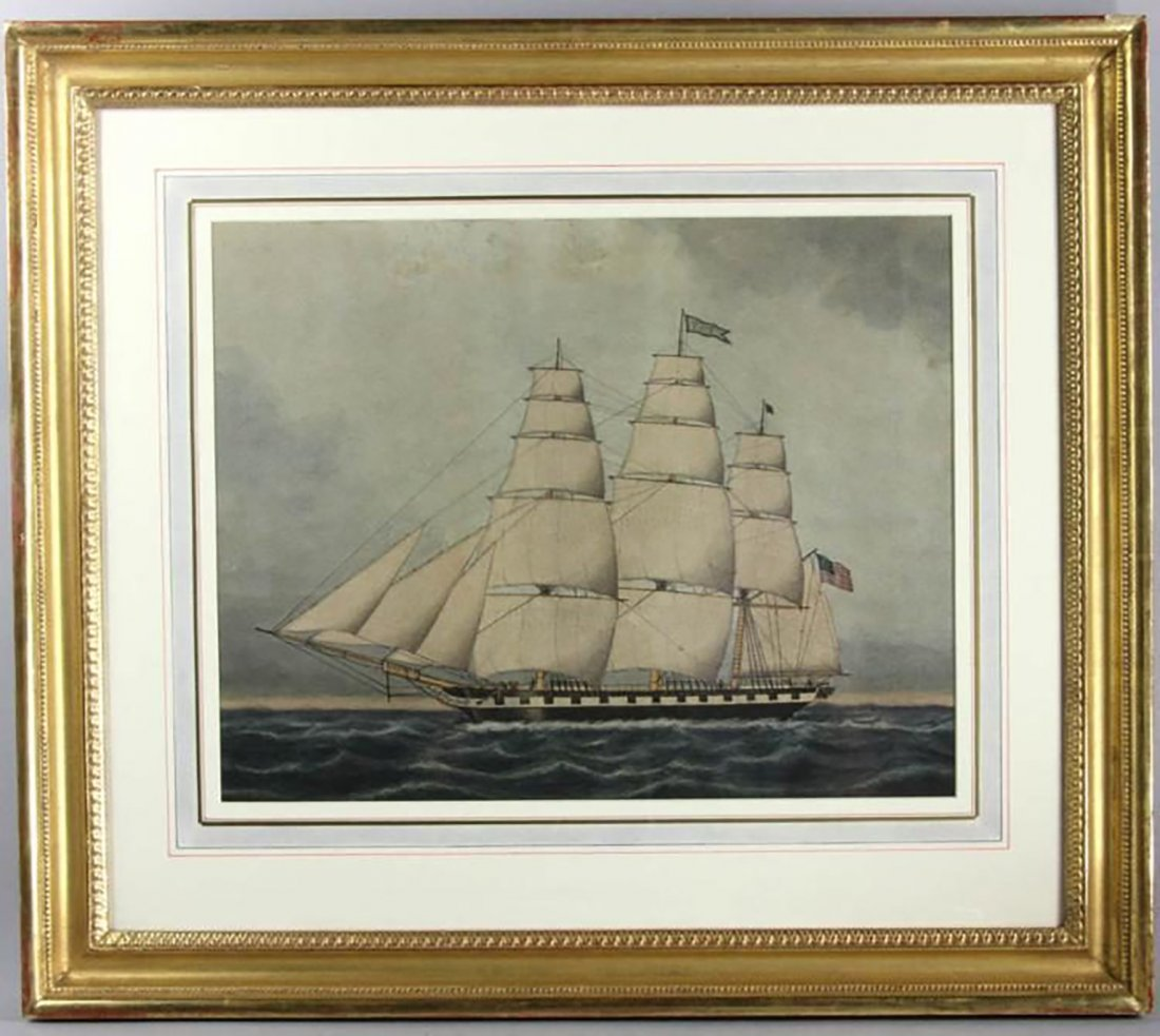 An American Clipper Ship By Jurgan Frederick Huge