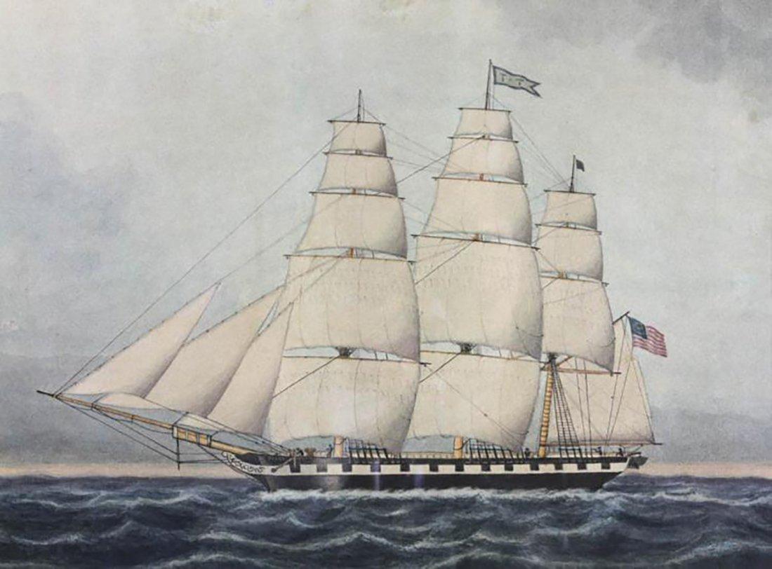 An American Clipper Ship By Jurgan Frederick Huge - 3