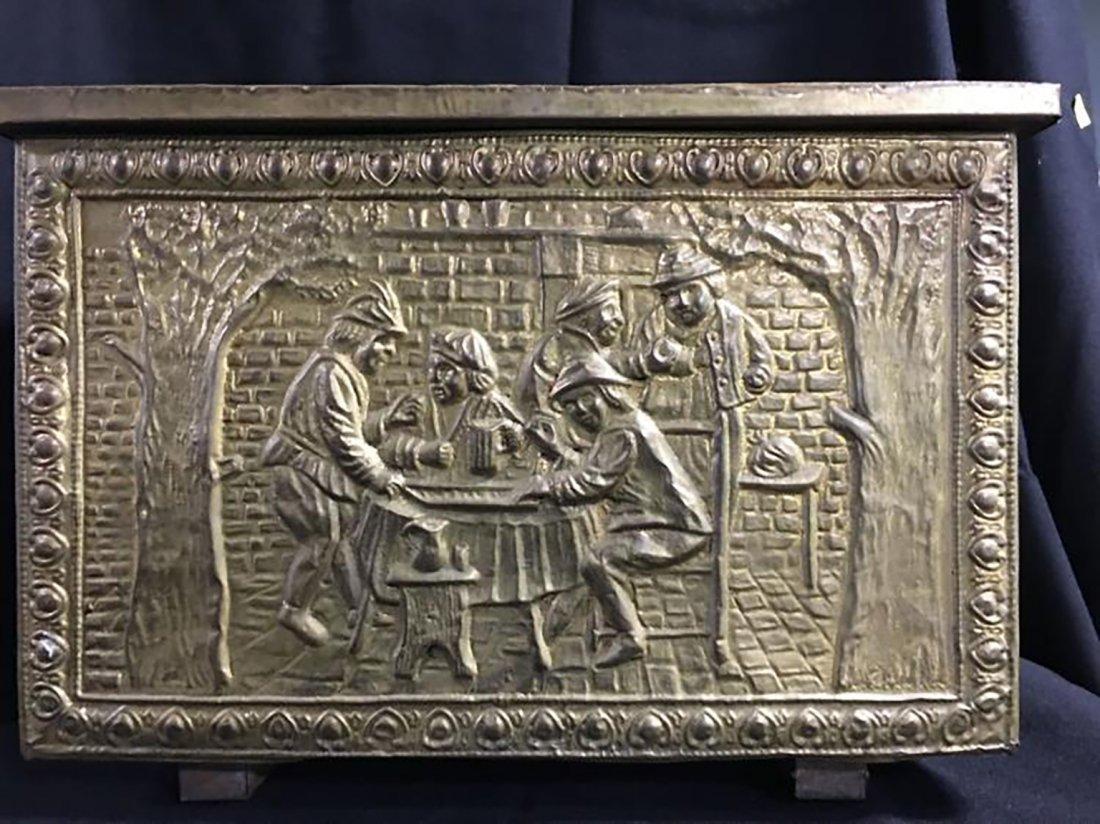 Embossed Brass Scenic Storage Box /Chest - 2