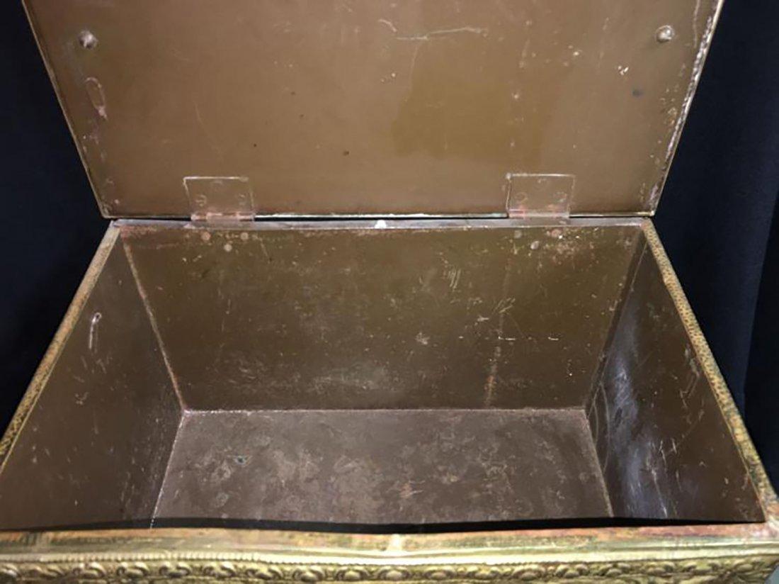 Embossed Brass Scenic Storage Box /Chest - 6