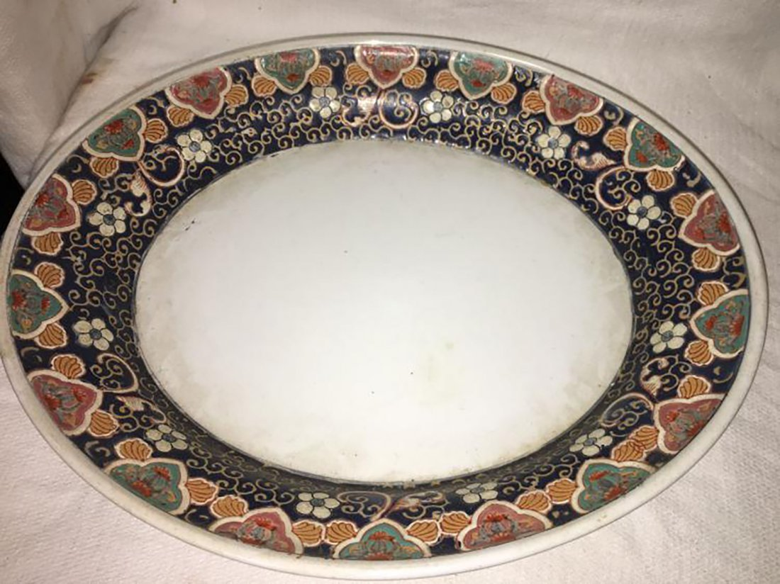 Hand Painted Ceramic Tureen W/ Matching Under Plate - 3