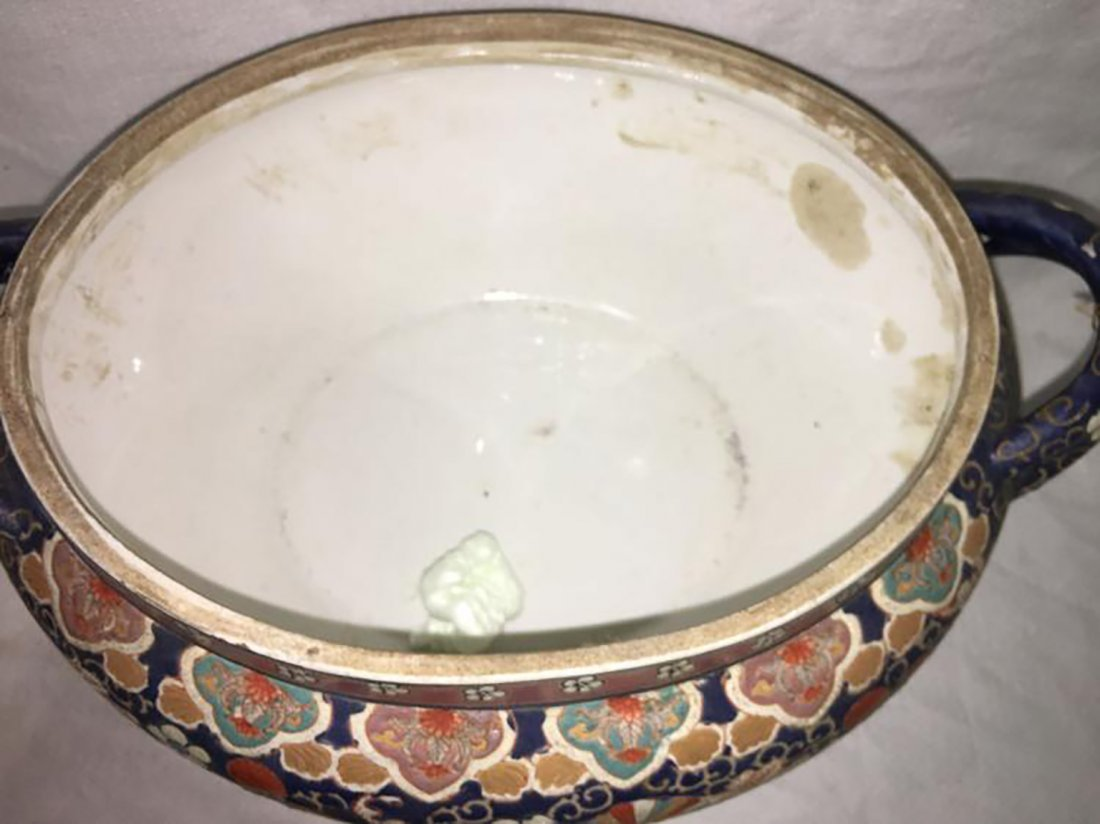 Hand Painted Ceramic Tureen W/ Matching Under Plate - 5