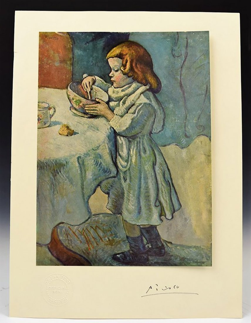 Pablo Picasso Hand Signed Litho Print Of Le Gourment