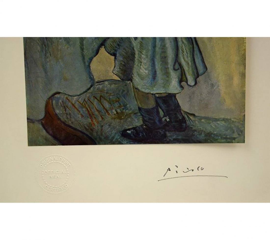 Pablo Picasso Hand Signed Litho Print Of Le Gourment - 2