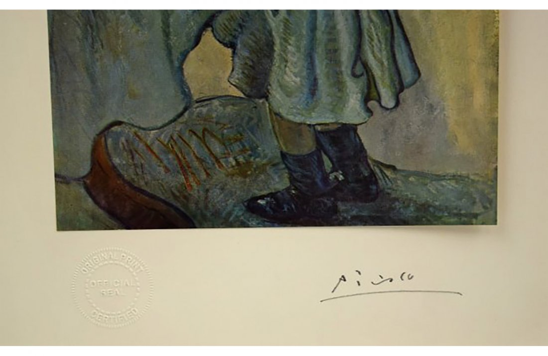Pablo Picasso Hand Signed Litho Print Of Le Gourment - 3