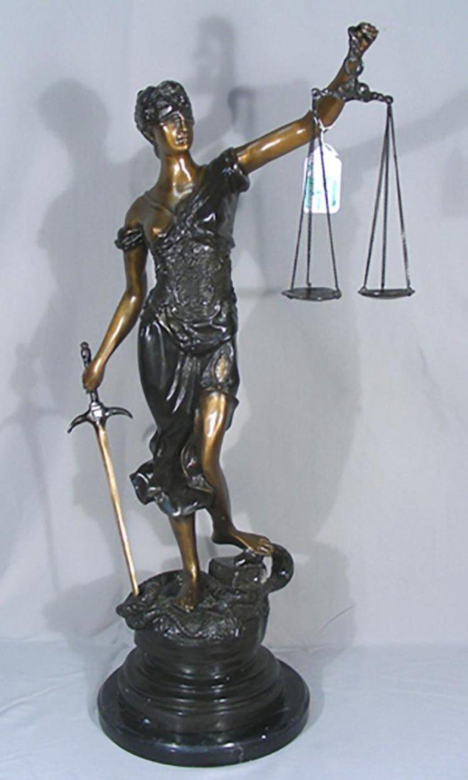 "Bronze Sculpture ""Scales of Justice"""