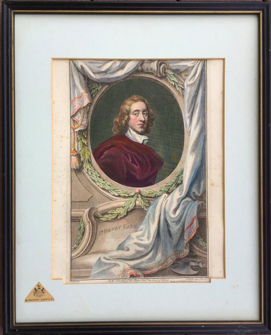 Antique 18th C. Sir Peter Lily Hand-Colored Engraving