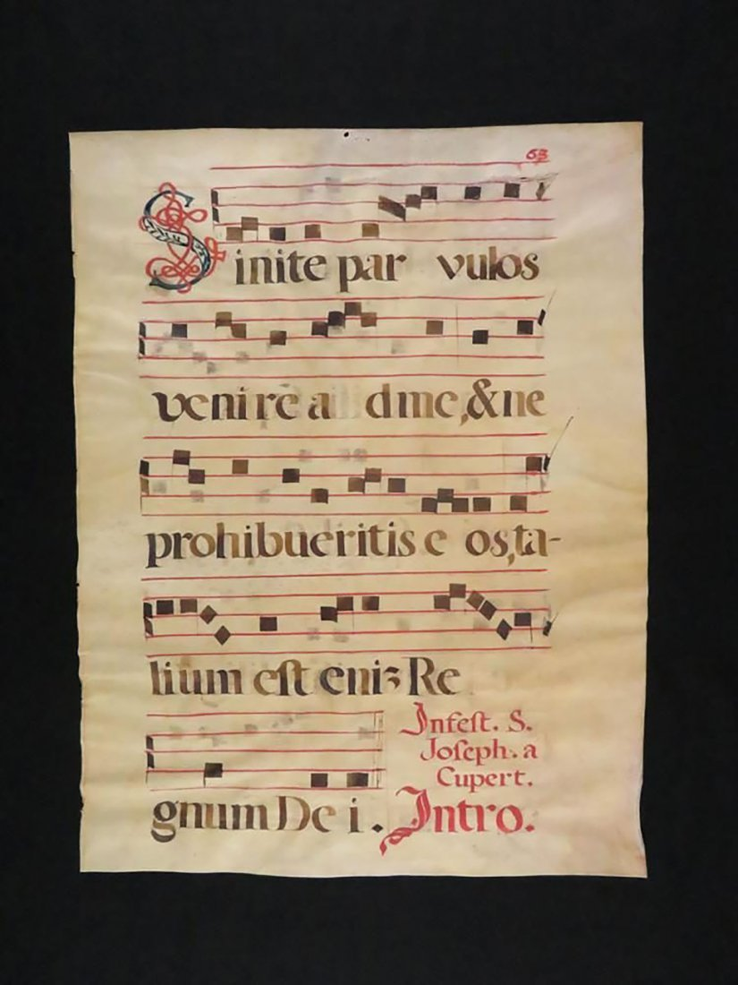 """Josephi de Cupertino Confessoris"" Hand Painted Chant - 2"