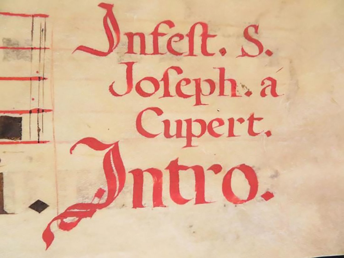 """Josephi de Cupertino Confessoris"" Hand Painted Chant - 4"