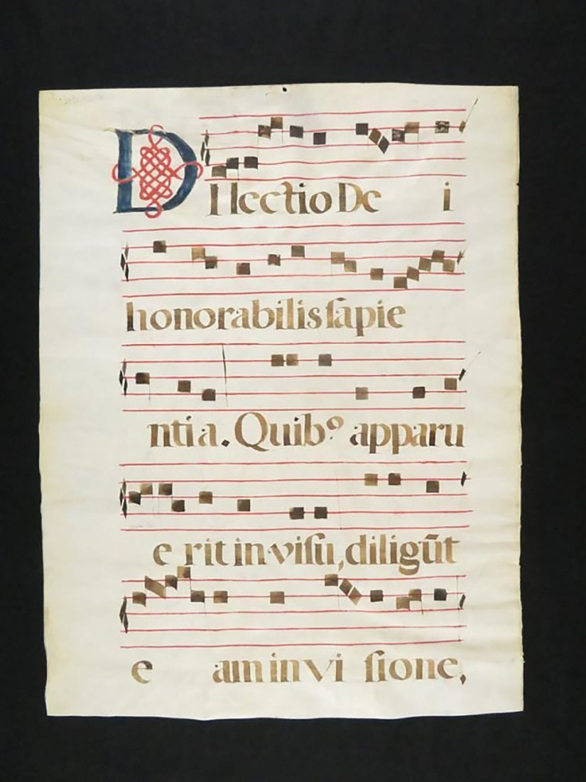 """Josephi de Cupertino Confessoris"" Hand Painted Chant - 5"