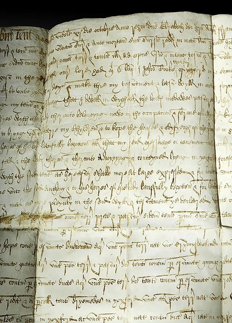 16th C. Handwritten English Court Document On Vellum - 3