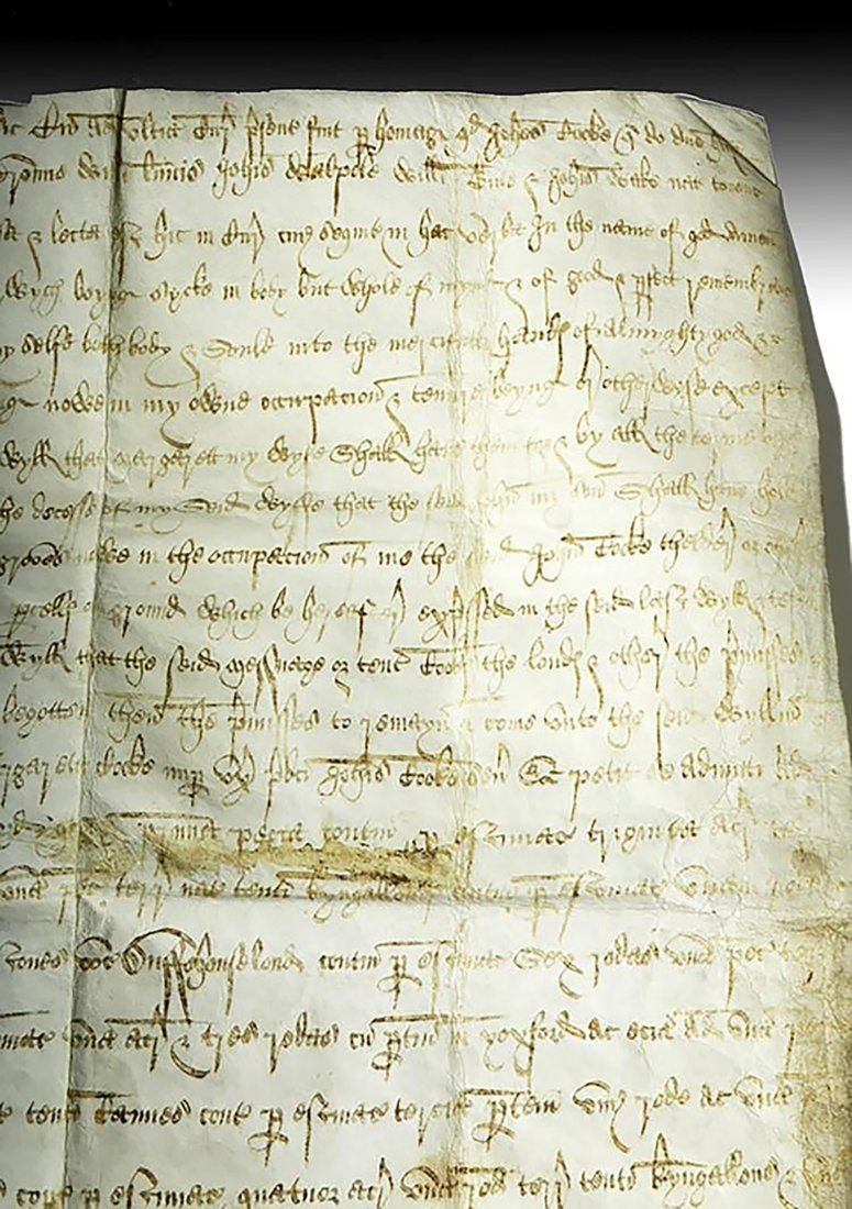 16th C. Handwritten English Court Document On Vellum - 5