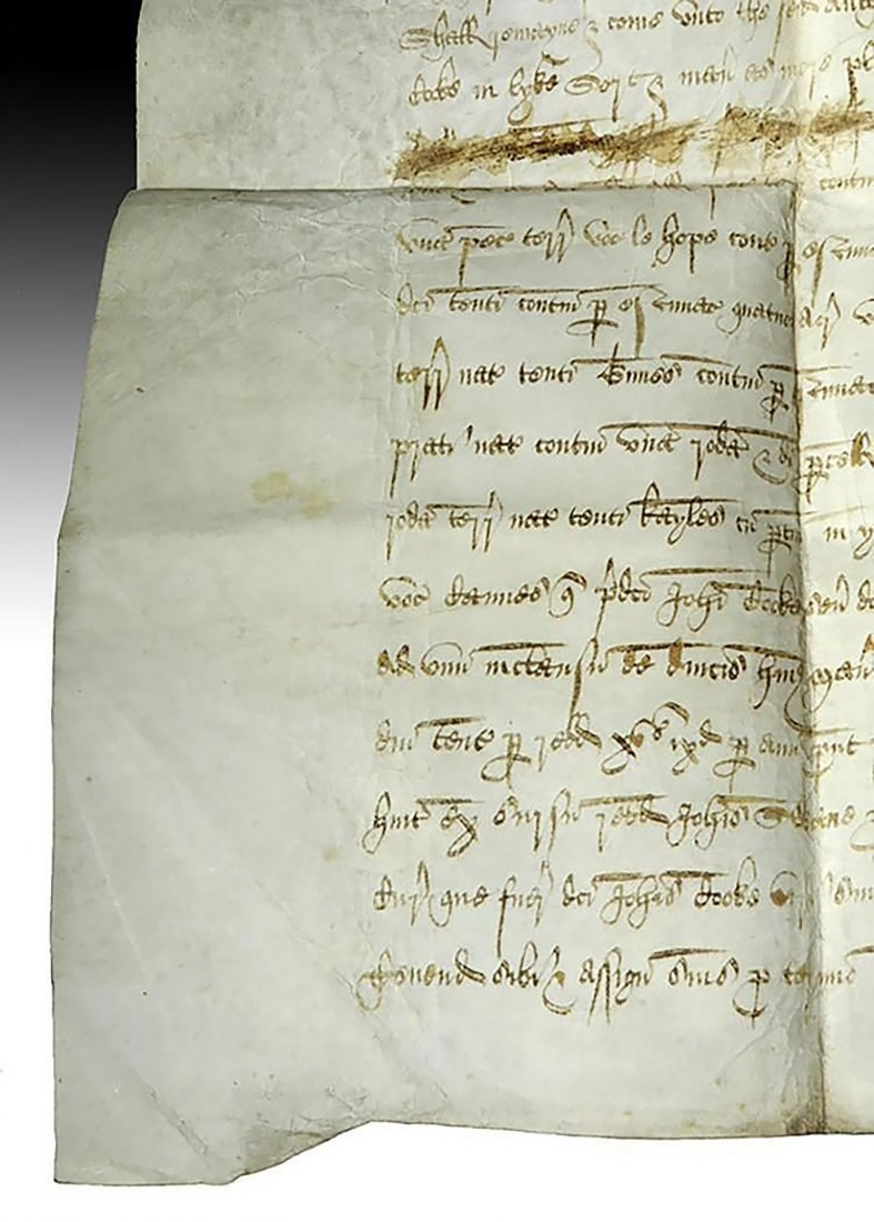 16th C. Handwritten English Court Document On Vellum - 6