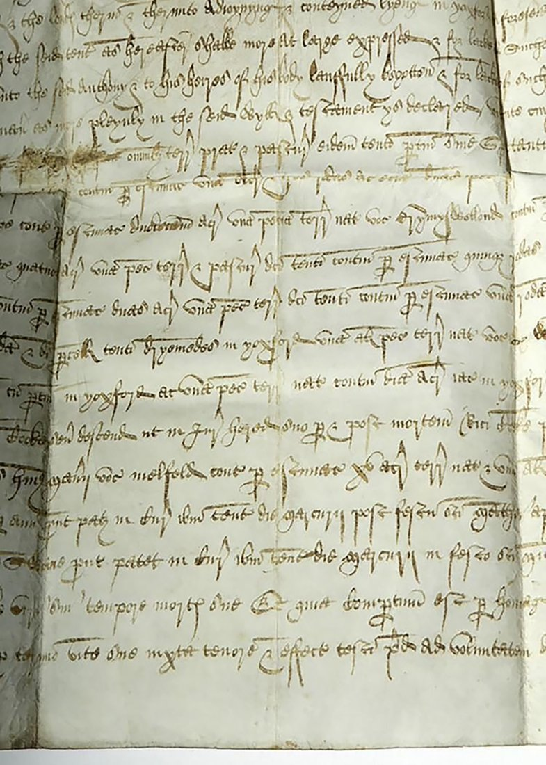 16th C. Handwritten English Court Document On Vellum - 7