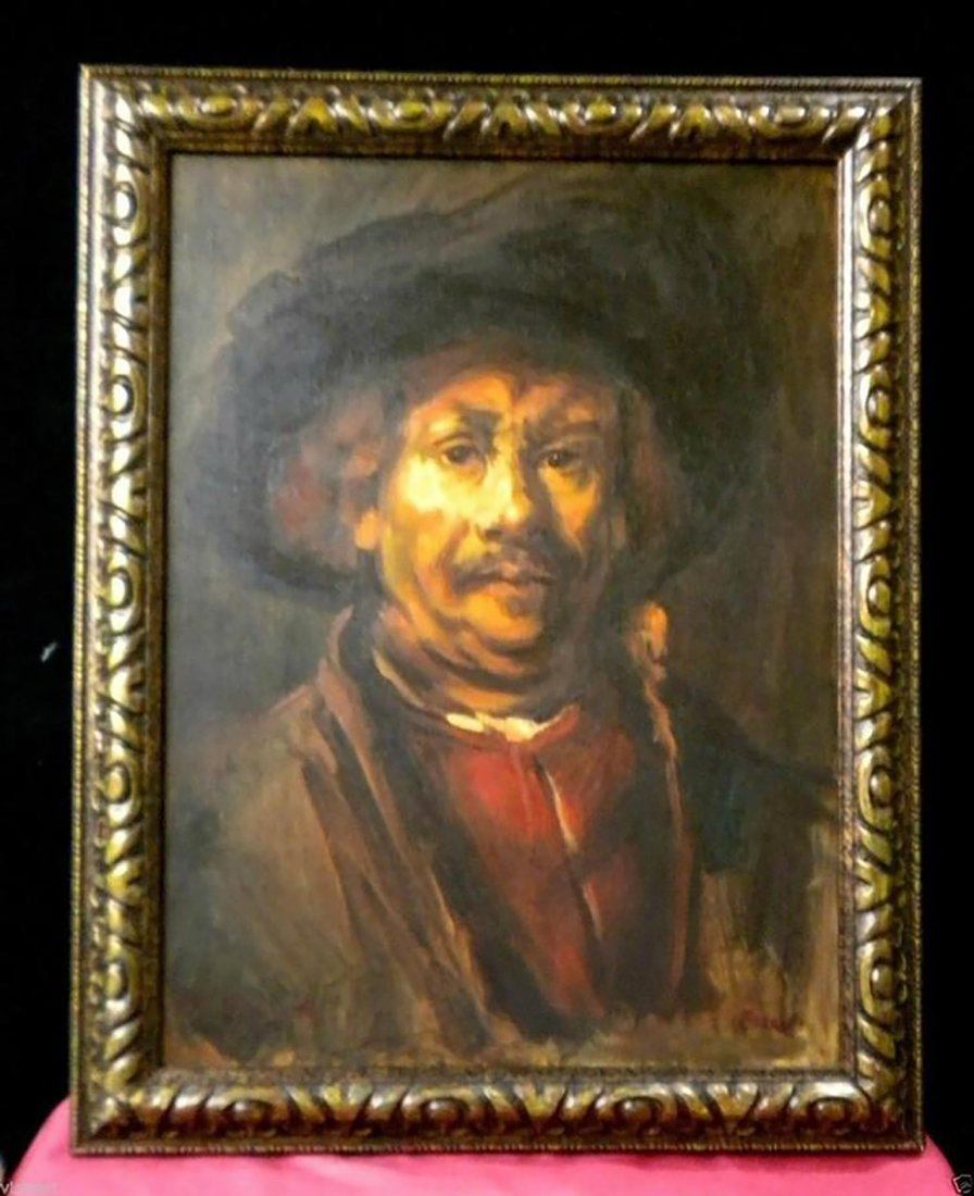 Rembrandt Portrait After Rembrandt's Self Portrait