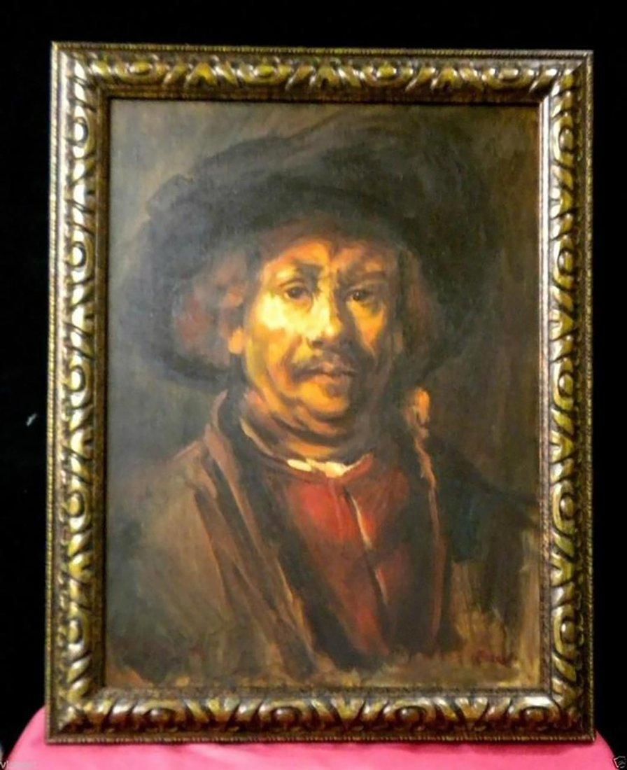 Rembrandt Portrait After Rembrandt's Self Portrait