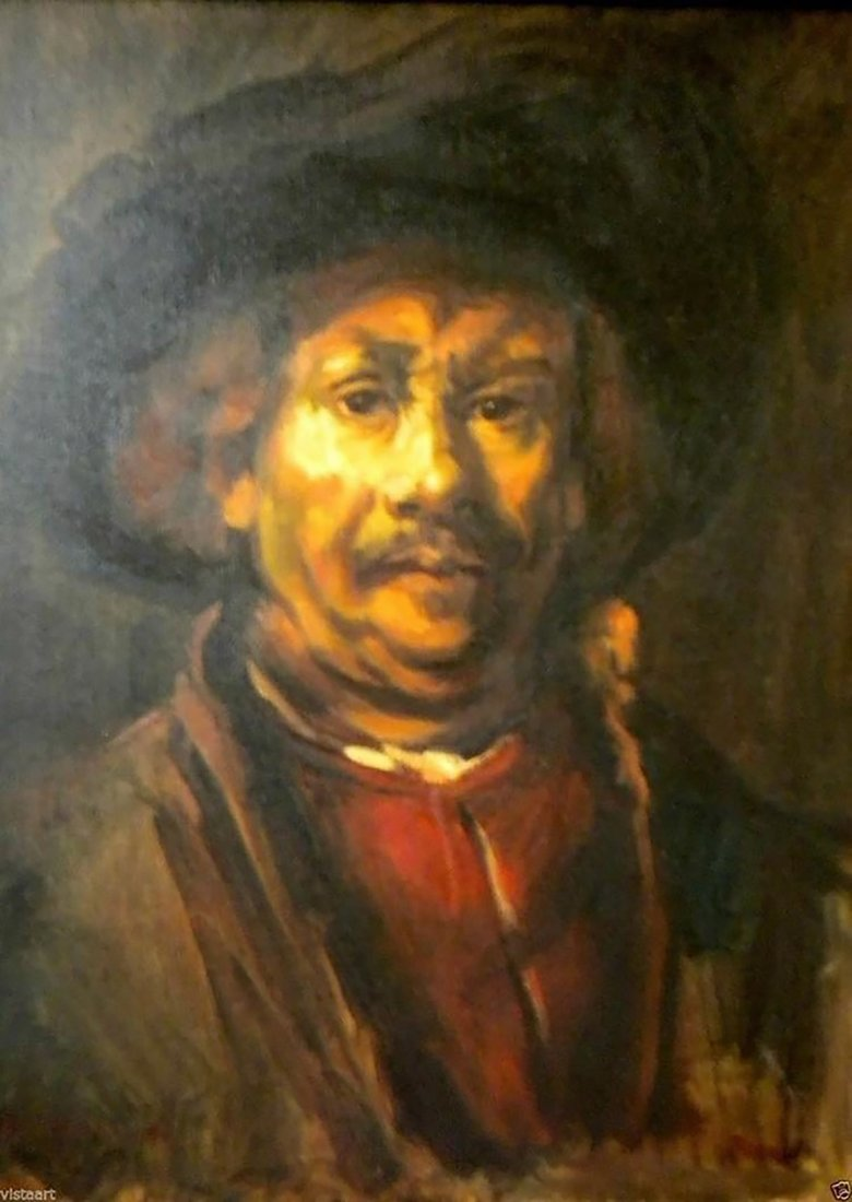 Rembrandt Portrait After Rembrandt's Self Portrait - 2