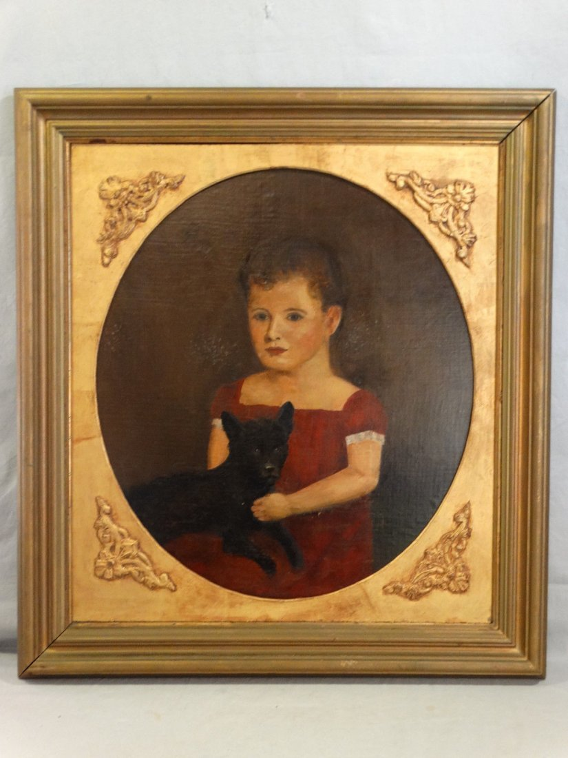 19th Century Victorian Portrait Oil Painting