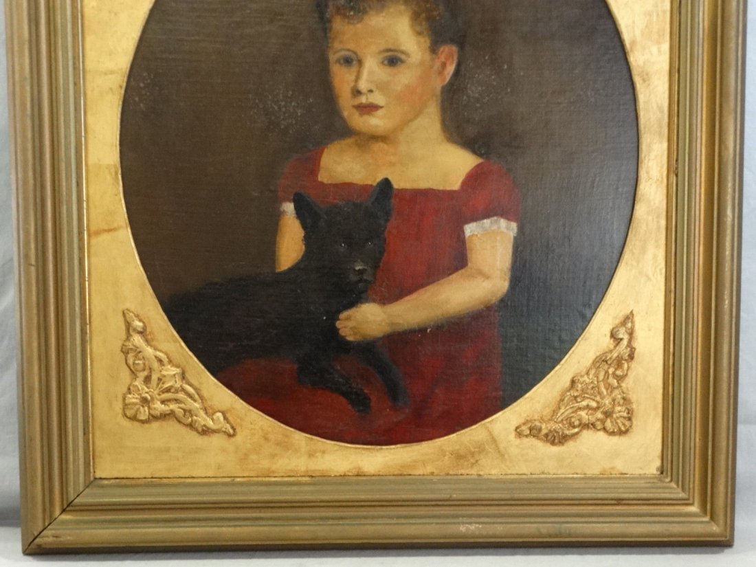 19th Century Victorian Portrait Oil Painting - 4