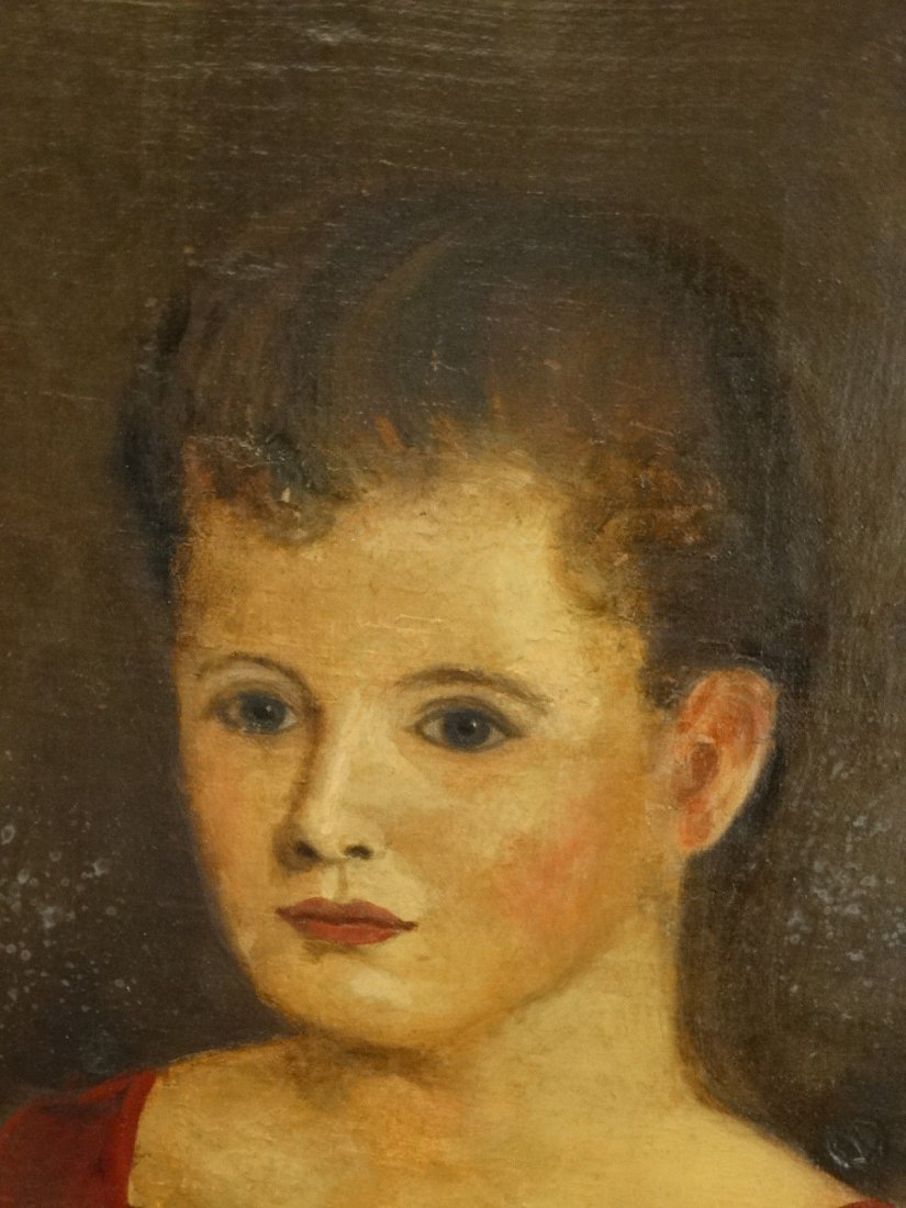 19th Century Victorian Portrait Oil Painting - 5