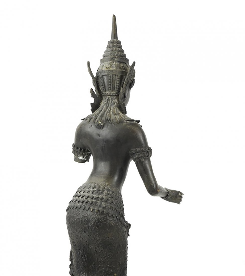 Large Antique Bronze Asian Thai Sculpture - 8