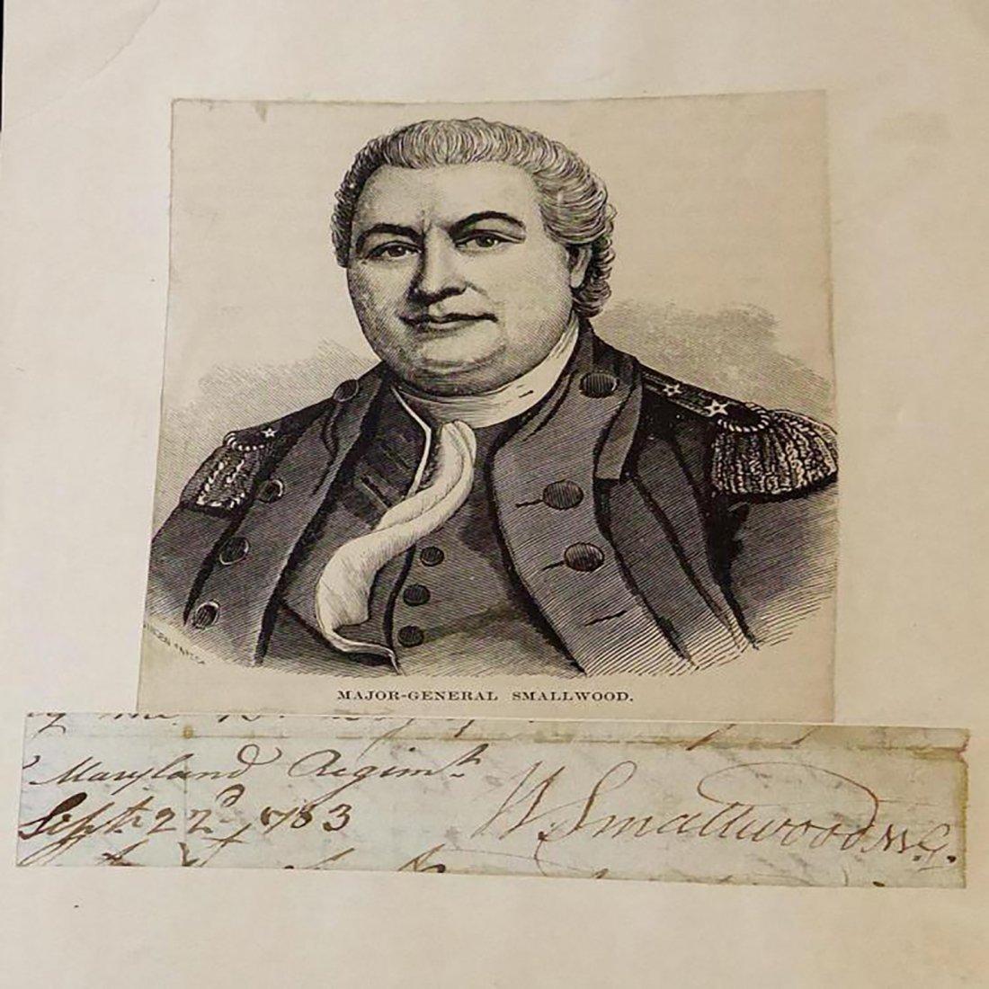Rev. War Signature Of Major G. William Smallwood